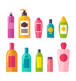 sprays and shampoos poster set vector image vector image