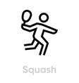 squash sport icon vector image