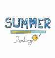 summer loading cute sun cartoon vector image vector image