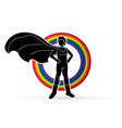 super hero man standing with costume cartoon vector image