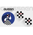 The moves of the chess queen vector image vector image
