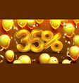thirty five percent or 35 marketing offer vector image
