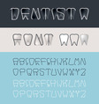 Tooth font vector image