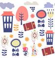 travel fantasy adorable seamless pattern cute vector image vector image