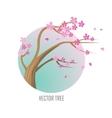 Tree Sakura Isolated on White vector image vector image