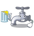 with juice water tap isolated on the character vector image