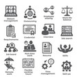 work from home icons on white background vector image