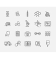 Thin lines web icon set - Medicine and Health vector image