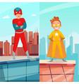 kid superhero vertical banners vector image