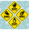 Baby on Board Signs vector image
