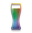 beer glass sign colorful icon with bright vector image vector image