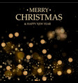 black christmas background christmas decorations vector image vector image