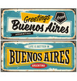 buenos aires argentina retro greeting card templat vector image vector image