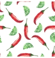 Chilli and lime Hand drawn watercolor painting on vector image vector image