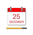 Christmas Day Calendar Icon vector image vector image