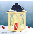 Christmas greeting card or invitation Winter vector image vector image
