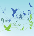 Colorful background with music notes vector image