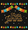 colorful poster of nightly background of festa vector image vector image