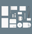 corporate identity elements business stationary vector image vector image