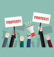 crowd people protesters vector image vector image