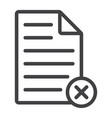 delete document line icon web and mobile vector image