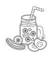 delicious healthy meal cartoon vector image