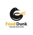 duck food variety logo design vector image vector image