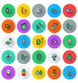 eco icon set on round background vector image
