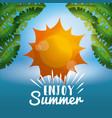 enjoy summer vacations vector image vector image