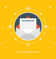 Flat design business concept E-mail marketin vector image