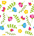 floral colorful seamless pattern with leafs vector image