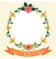 Floral frame with ribbon All I need is you vector image vector image