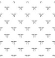 flying robot pattern seamless vector image