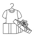 gift and tshirt design vector image