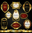 gold-framed colorful labels in retro style vector image vector image