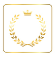 Gold laurel wheat wreath icon vector image vector image