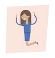 Happy Business woman Jumping for Joy vector image vector image