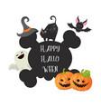 happy halloween poster happy halloween poster vector image