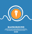 Ice Cream icon sign Blue and white abstract vector image vector image