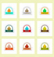 label icon on design sticker collection spice with vector image vector image