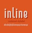line alphabet set vector image vector image