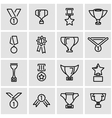 line trophy and awards icon set vector image vector image