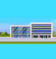 modern corporate architecture office building vector image vector image