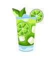 mojito cocktail vector image