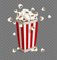 paper cup with popcorn vector image vector image