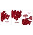 paper heart set design I vector image vector image