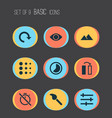 picture icons set with flip blur filter and vector image vector image