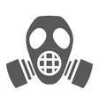 radiation mask glyph icon defense and respirator vector image