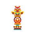religious totem pole traditional native cultural vector image vector image