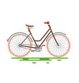 retro bicycle bike isolated on white background vector image